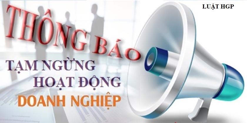 Tạm ngừng kinh doanh tại Thái Nguyên